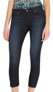 Lucky Brand Curvy Fit Midrise Higher Back Rise Echo Stretch Capri/Cropped Denim-Dark Rinse