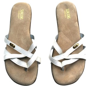 Bass Vintage Leather White/Brown Sandals