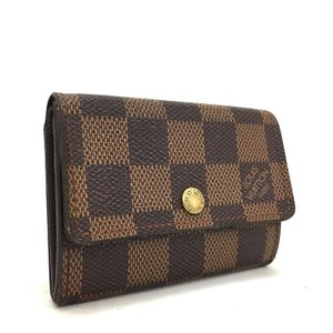 Louis Vuitton Authentic Damier Porte Monnaie Plat Coin Purse Mens