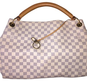 Louis Vuitton Tote in Grey and White