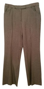 Liz Claiborne Boot Cut Pants Black/Ivory Houndstooth