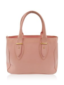 Furla Pink Leather Tote in Light Pink