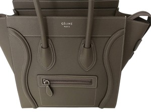 Céline Calfskin Luxury Tote in Taupe