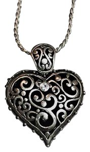 Grace Adele Crystal Tendril Heart Necklace