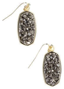 Kendra Scott Kendra Scott Danay Drop Earrings in Platinum Crystallized Drusy & Gold