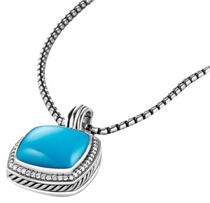 David Yurman David Yurman Albion Pendant with Turquoise and Diamonds, 17 mm