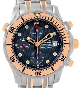 Omega Omega Seamaster Titanium 18K Rose Gold Blue Dial Watch 2296.80.00