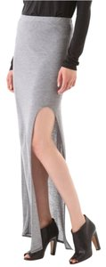 Helmut Lang Maxi High Slit Maxi Skirt Gray