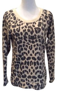Ellison Animal Print Cut-out Sweater