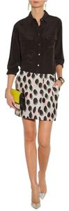 Diane von Furstenberg Mini Melissa Dvf Mini Skirt Gray/Black/Pink