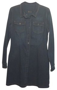 Kut by the Kloth short dress Concentrate W/Dk Stone Base Wash Claasic Denim Stretchy Contrast Stitching on Tradesy