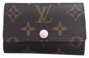 Louis Vuitton monogram rose ballerine 6 key pouch