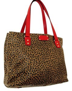 Kate Spade Red Leopard Tote in brown/red