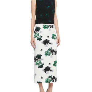 A.L.C. Midi Silk Pencil Skirt Floral