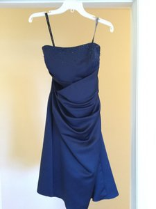 Alfred Angelo Navy Blue 7027s Dress