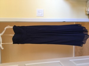 David's Bridal Navy F15555 Dress