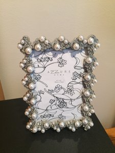 Azzure Home 4x6 Pearl Frame With Silver Design