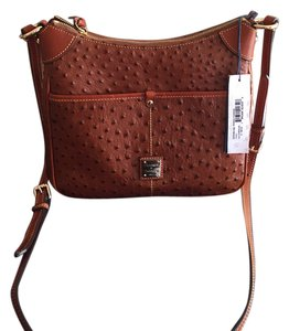 Dooney & Bourke Kimberly Ostrich Emb Leather Cross Body Bag
