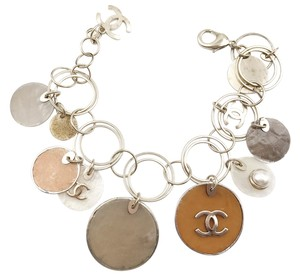 Chanel Chanel Gold Brown Ivory Shell Bracelet