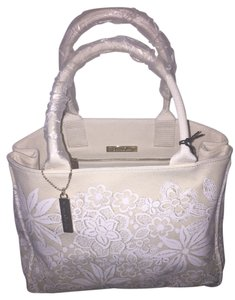Oscar de la Renta Tote in White and Beigh