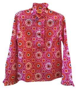 Tory Burch Top Pink/orange/black/white