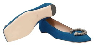 Gucci Blue suede Flats