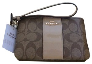 Coach Wristlet in Brown & Nude