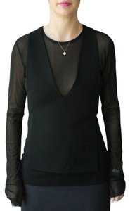 Tibi V-neck Open Top Black