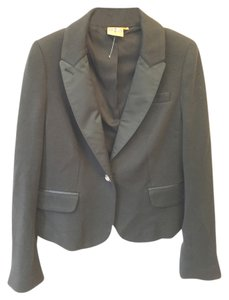Tory Burch Jewled Wood Black Blazer