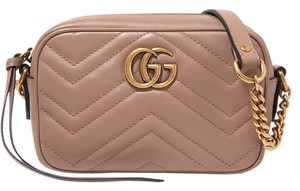 Gucci Mini Gg Marmont Matelasse Blush Cross Body Bag