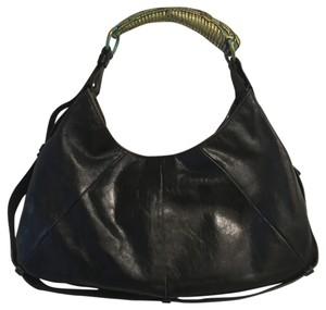 Saint Laurent Leather Hobo Mombasa Shoulder Bag