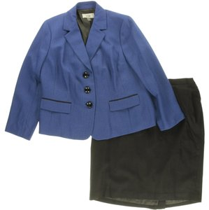 Le Suit BRAND NEW-Le Suit 2446 Womens Blue Notch Collar 2PC Skirt Suit 16W