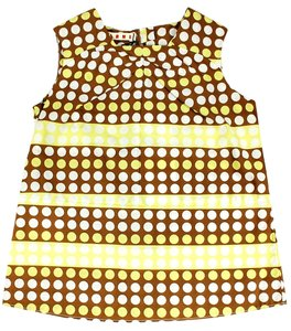 Marni Kings Road Tank Polka Dot Top Yellow