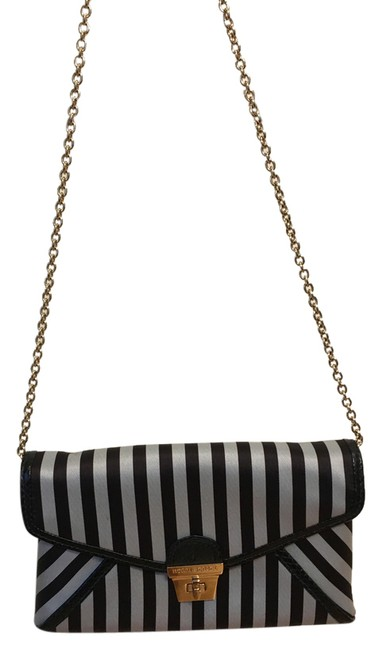 Item - Centennial Stripe Collection Brown and White Clutch