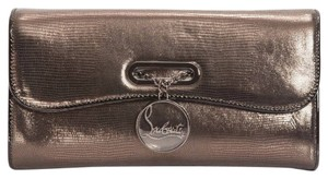 Christian Louboutin Laminated Riviera Anthracite Clutch