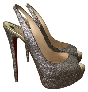 Christian Louboutin Glitter silver and gold Platforms