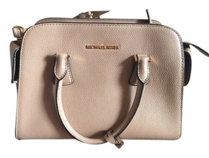 Michael Kors Mk Tan Gold Hardware Satchel in beige