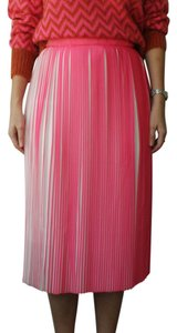 Designers Remix Accordion Pleat Midi Skirt Pink