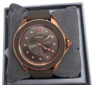 Michele NIB CAPE TOPAZ ROSE GOLD TAUPE WATCH MWW27A000005