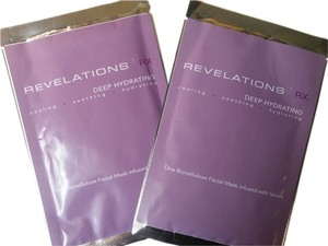 Revelations RX Deep Hydrating Biocellulose Facial Mask infused with Serum