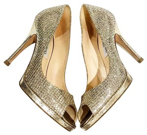 Jimmy Choo Gold / Silver Platforms