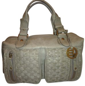 Elliott Lucca Nwot Leather Lined X-lg Satchel in Taupe