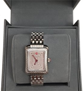 Michele MWW06Y000023 NIB ' DECO MODERNE 2 'DIAMOND with PAVE FACE WATCH