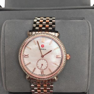 Michele MWW26A000005 NIB Gracile WHITE MOTHER OF PEARL Diamond Watch