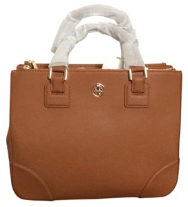 NWT Tory Burch Robinson Double-Zip Tote in Luggage Tote in Luggage