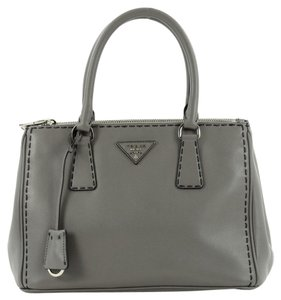Prada Leather Tote in Gray