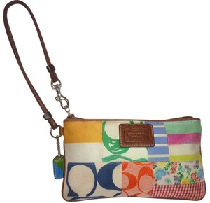 Coach Refurbished Multi Color Lined Wristlet in Multiple