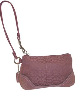 Coach Nwot Monogram Lined Wristlet in Mauve