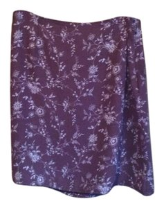 Style & Co Polyester Floral Skirt Brown/grey