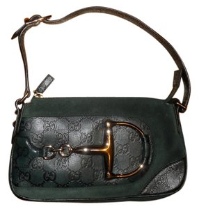 Gucci Monogram Horsebit Gg Shoulder Bag